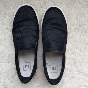 Gap black calf hair slip-on sneakers